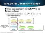 mpls vpn connectivity model