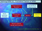 defining nrm 4 formative factors of nrm