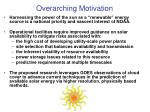 overarching motivation