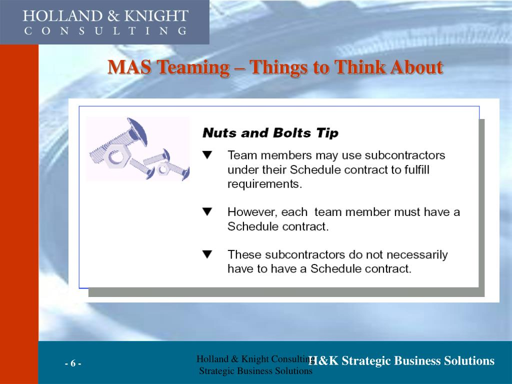 MAS Teaming – Things to Think About