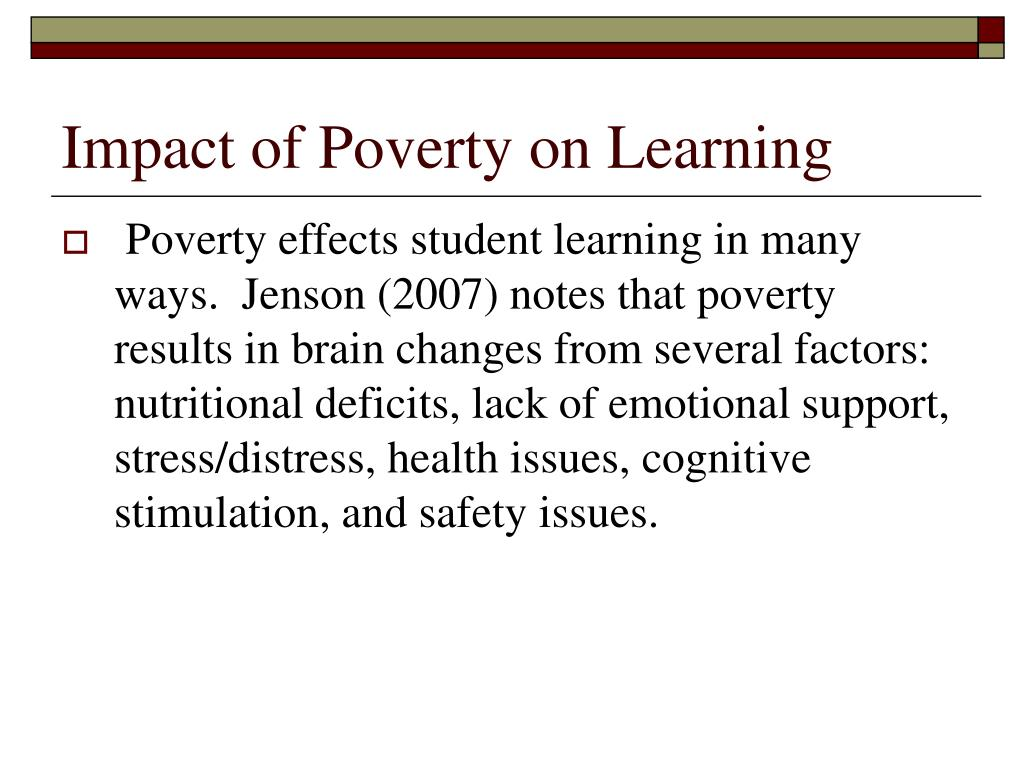 the impact of poverty on the