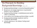 six principals for building background knowledge marzano 2004