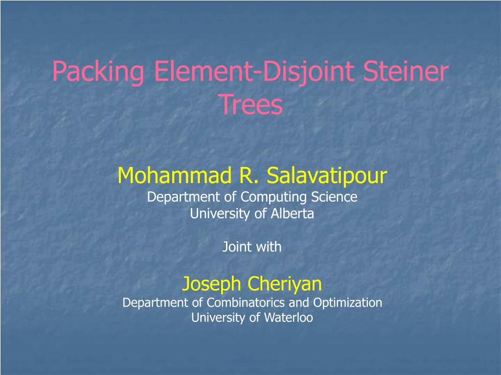 packing element disjoint steiner trees l.