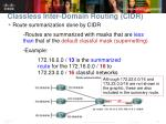classless inter domain routing cidr