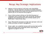 recap key strategic implications70