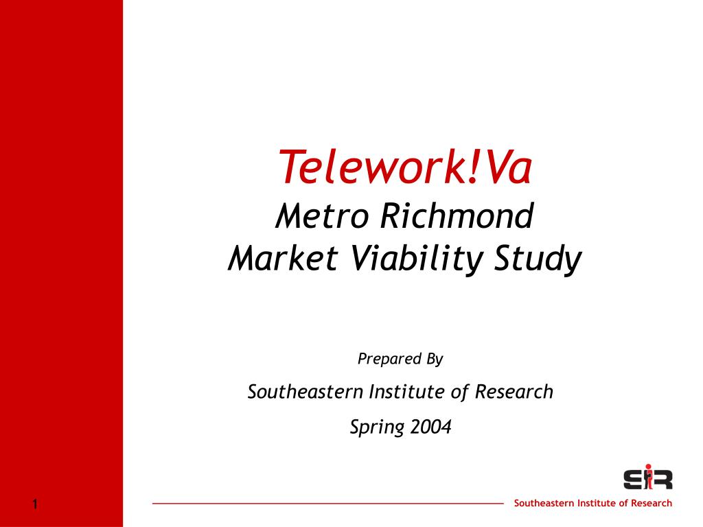 telework va metro richmond market viability study l.