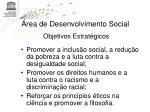 rea de desenvolvimento social22