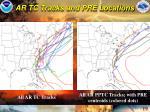 ar tc tracks and pre locations
