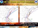 sr tc tracks and pre locations