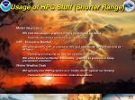 usage of hpc stuff shorter range