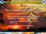 wfo bgm usage of hpc products