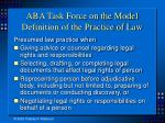 aba task force on the model definition of the practice of law