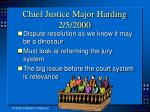 chief justice major harding 2 5 2000