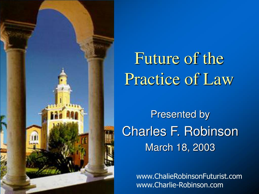 future of the practice of law l.
