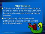 mdp defined