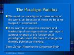 the paradigm paradox