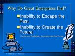 why do great enterprises fail