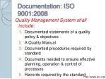documentation iso 9001 2008