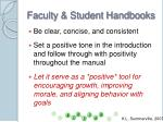 faculty student handbooks