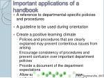 important applications of a handbook