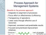 process approach for management systems28