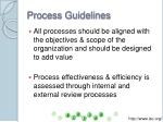 process guidelines