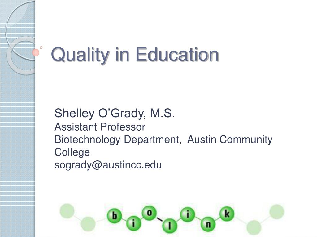 quality in education l.