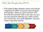 why do people join pta