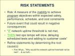 risk statements