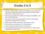 grades 3 to 5