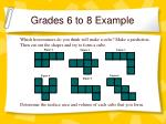 grades 6 to 8 example