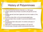 history of polyominoes