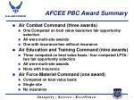 afcee pbc award summary
