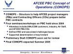 afcee pbc concept of operations conops
