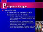 eripheral fatigue