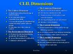 clil dimensions
