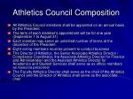 athletics council composition