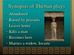 synopsis of theban plays