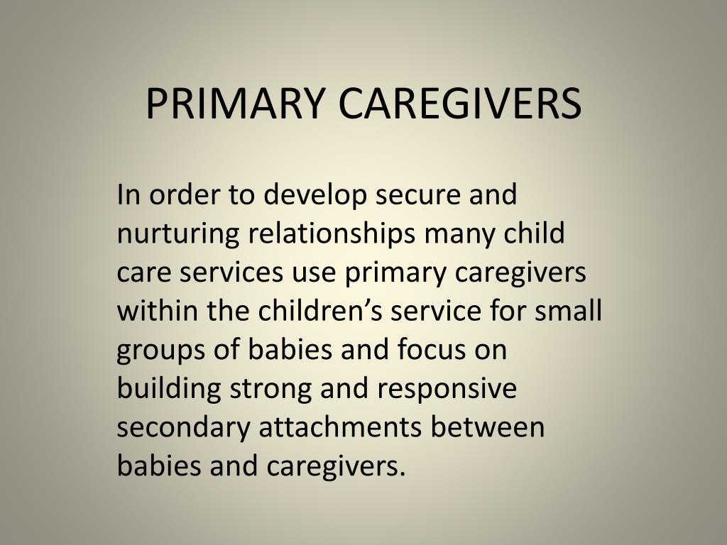 primary caregivers l.