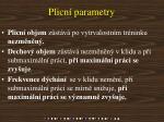 plicn parametry