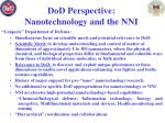 dod perspective nanotechnology and the nni