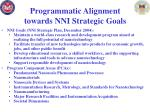 programmatic alignment towards nni strategic goals