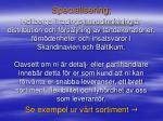 specialisering