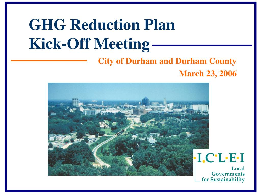 ghg reduction plan kick off meeting l.