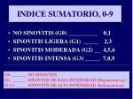 indice sumatorio 0 9
