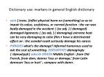 dictionary use markers in general english dictionary