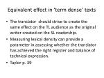 equivalent effect in term dense texts