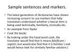 sample sentences and markers