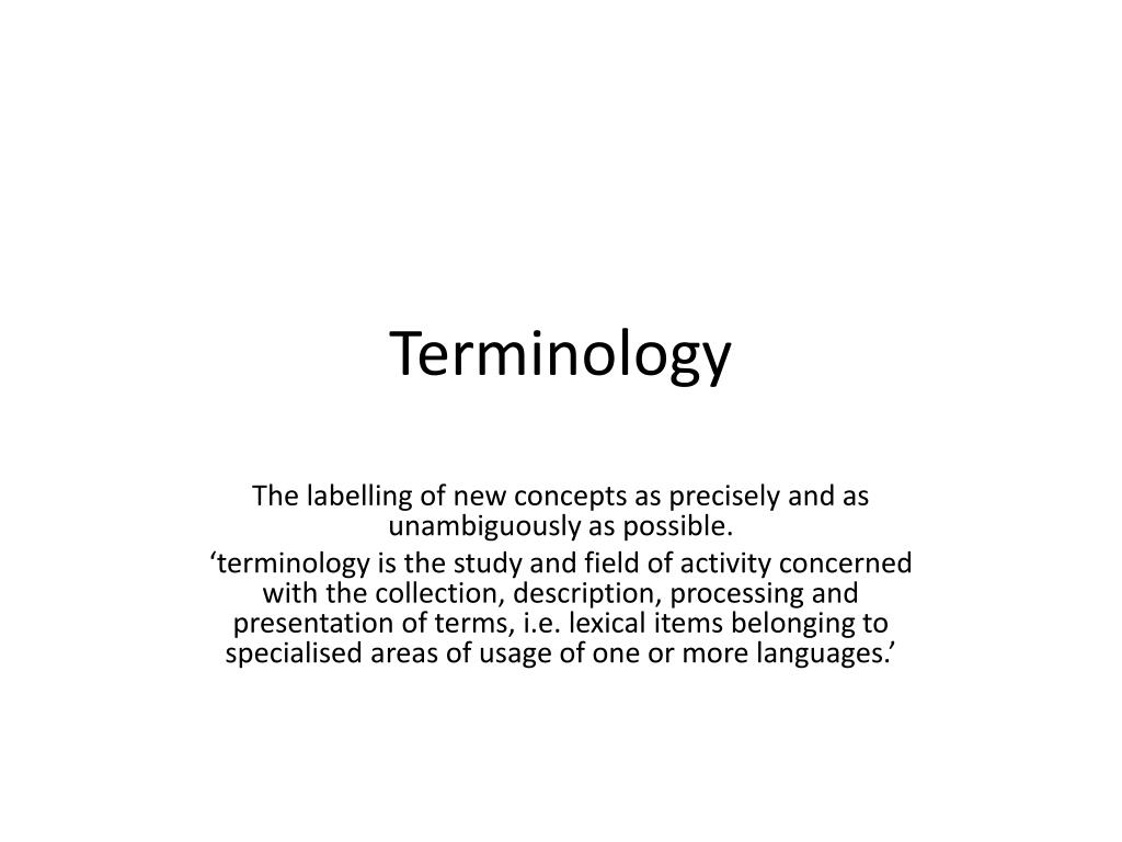 terminology l.
