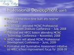 professional development con t